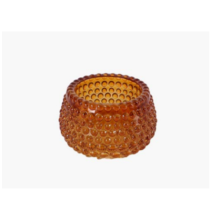 Amber Dotted Candle Holder