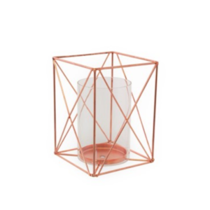 Geometric Rose Gold Lantern