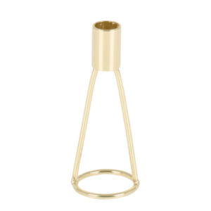 Gold Dinner Candle Holder Short