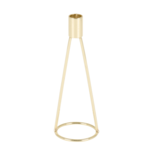 Gold Dinner Candle Holder Tall