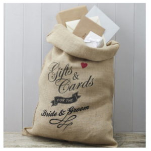 Hessian Gifts & Cards Bag