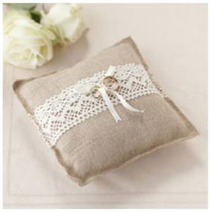 Hessian Ring Cushion