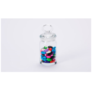 Mini Looped Lid Candy Jar