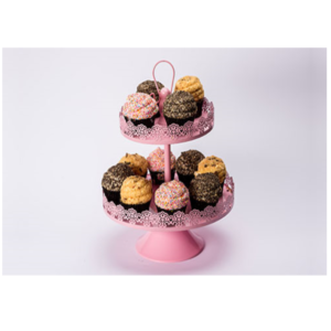 Pink Lace Cupcake Stand