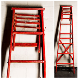 Red Vintage Ladder