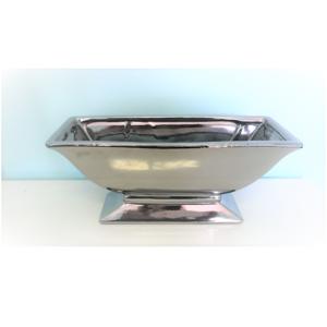 Silver Rectangular Vase