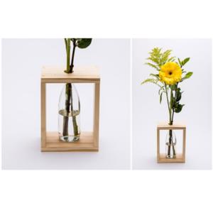 Single Wooden Vase