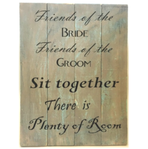 Sit Together Sign