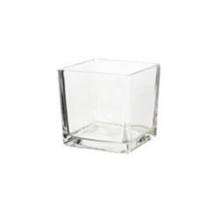 Square Glass Vase 10cm