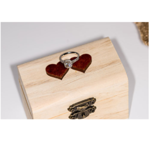 Square Heart Ring Box