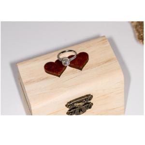 Square Heart Ring Box