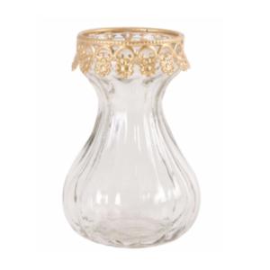 Gold Vintage Bud Vase