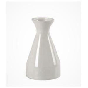 Cylinder White Ceramic Vase