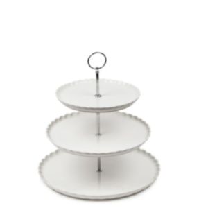 White Plate Cupcake Stand