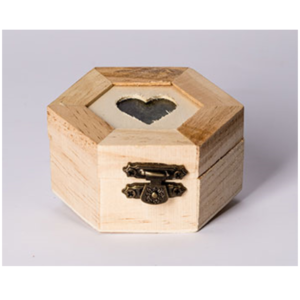 Wooden Heart Ring Box