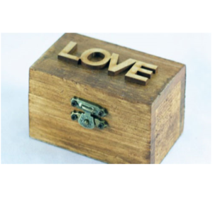Woden Love Ring Box