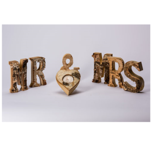Wooden Mr & Mrs Sign